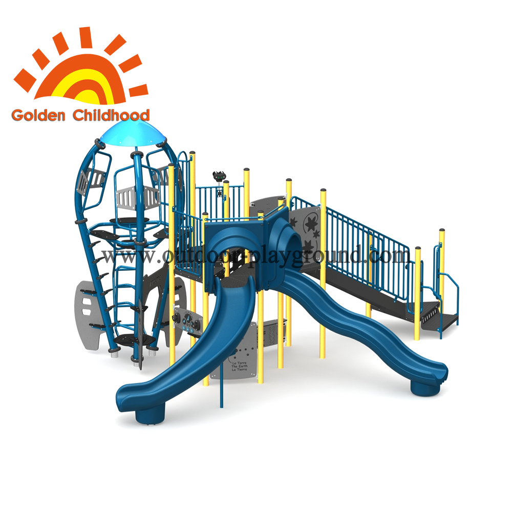 Blue Rocket Structure With Slide