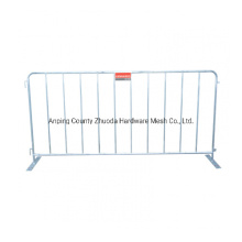 2.2X1.1m Standard Galvanized Steel Crowd Control Barriers Crowd Control Fences