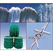 BWG15 * 15 cerca de alambre de púas con alta calidad y precio competitivo
