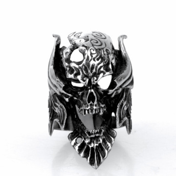 Exaggeration open mouth skull ring for Single man