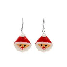 Amazon's New Christmas Gift Colorful Earrings European And American Santa Crutch Flower Women Ears Pendant