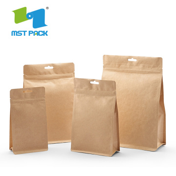 Bolsa de caja de papel personalizada 100% compostable / biodegradable