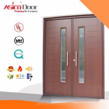 ASICO Solid Wooden Interior Office Door With Glass Window