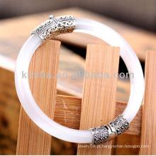 Único opala pedra 925 prata esterlina jóias pulseira