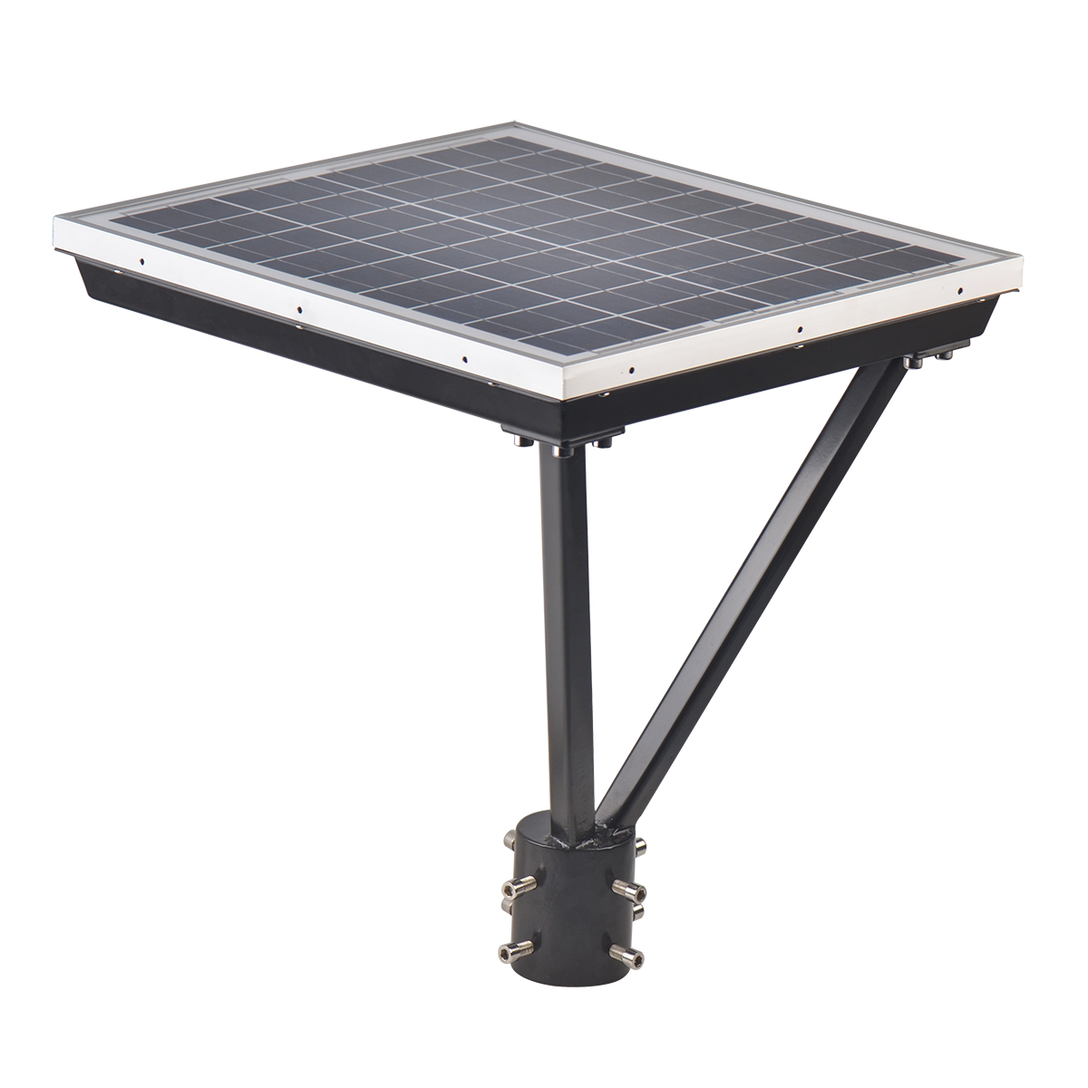 25W Square Solar led top light for gardens