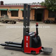 Walkie Full Elektro Gabelstapler Stacker 1000KG Kapazität / halb-elektrische hydraulische Stapler Gabelstapler