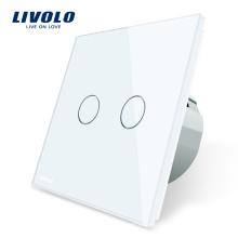 Livolo EU Standard 2 Gang Односторонний настенный сенсорный выключатель VL-C702-11 / 12/13/15