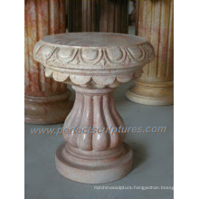 Architectural Stone Base and Marble Pedestal (BA039)