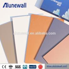 Utilisation extérieure et antistatique anti-moisissure ignifuge fonction antibactérienne pvdf panneau composite en aluminium