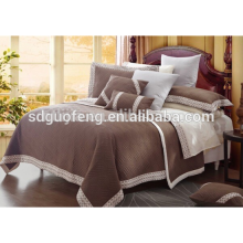 100 cotton bed cover set satin embroidered bedspread set
