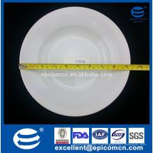 Отель использовали плоский край белый керамический прочный 12oz глубокий тарелку супа