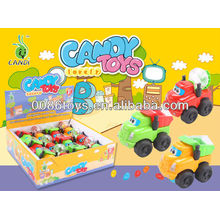 pull back construction truck with 4g candy