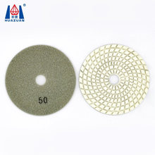 China Huazuan Wet or Dry Flexible 100mm Diamond Polishing Pads