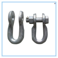 Galvanized Suspension Shackles of Twisted Clevis Steel Spare Parts
