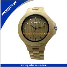 Relógio de madeira do pulso de madeira por atacado natural encantador de Vogue do relógio com logotipo personalizado