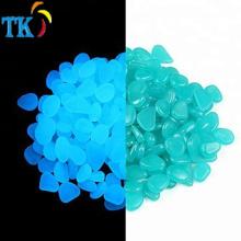 Glow in the Pebbles Stones für den Innen- und Außenbereich Garteneinfahrt Große Tasche mit Licht und Solar (Blau)