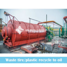 Plásticos de desecho de la fábrica de papel de desecho ciclismo a la máquina de pirólisis de aceite combustible