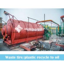 Déchets de plastique provenant du recyclage des déchets de papier à la machine de pyrolyse de mazout