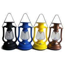 Solar Retro Camping Laterne Lampe mit Petroleumlampe Design von ISO9001 Factory