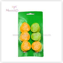 PP Kunststoff Zitrone Wäscheklammern Set von 6 (3,7 * 3,7 cm)