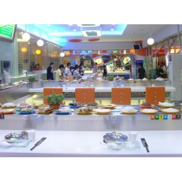 Buffet Hot Pot Com Correia Transportadora De Sushi
