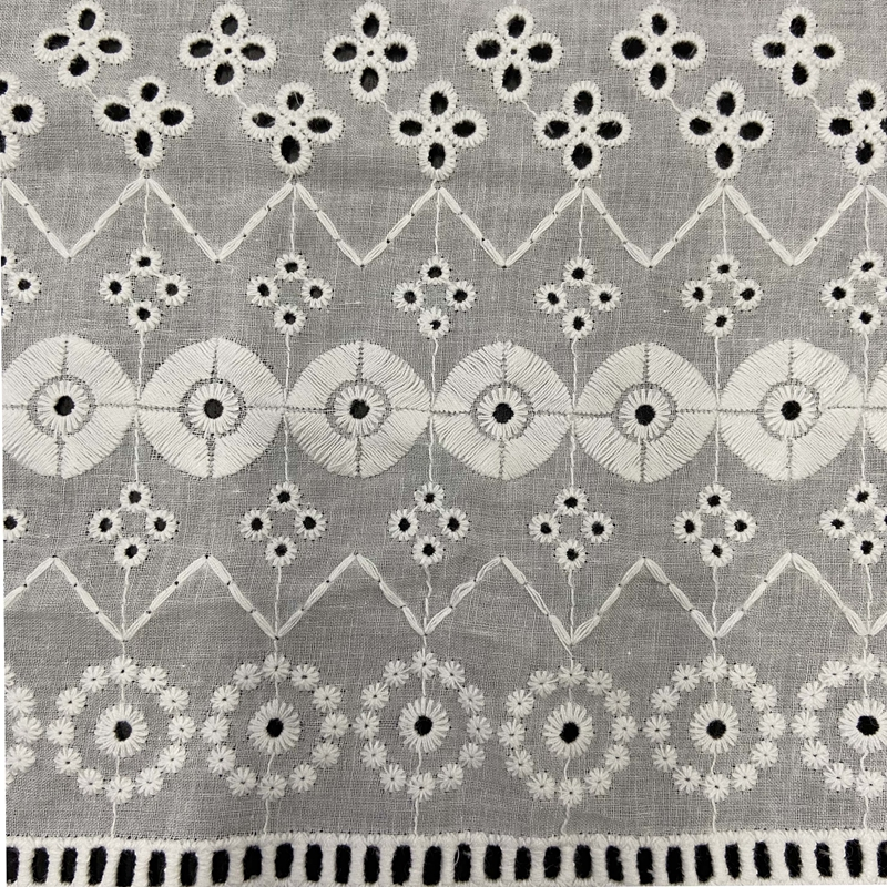 Cotton Eyelet Embroidery Fabric P5