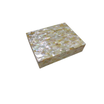Golden Mother of Pearl Custom Jewelry Box