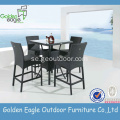 Outdoor Aluminium Wicker Dining Set Rattan Möbler