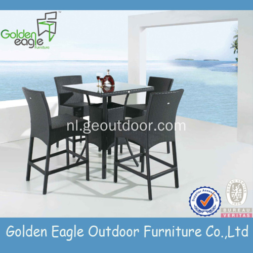 Outdoor aluminium rieten Dining Set rotan meubels