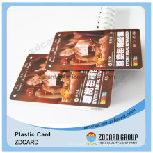 Carte claire en plastique / carte givrée mate claire / carte d'identité