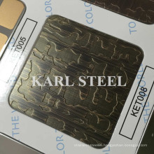 High Quality 201 Stainless Steel Color Ket008 Etched Sheet