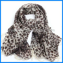 Мода леди печать леопарда шарф шерсть