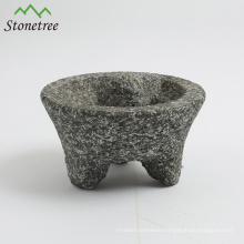 Pitted granite mortar pestle