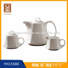 1200ml porcelain tea pot set with milk jar and sugar pot for sale