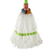 Hochwertiger Reinigungsnachfüllmop Runder Kopf Weiß Microfaser Mop
