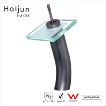 Haijun New Arrivals 2017 Cubierta montada en baño de latón cascada grifo del lavabo