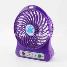 3 Velocidades Mini ventilador portátil portátil ventilador USB com bateria recarregável