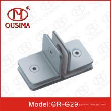 Accesorio de acero inoxidable del vidrio para el sitio de ducha con la forma especial (CR-G29)