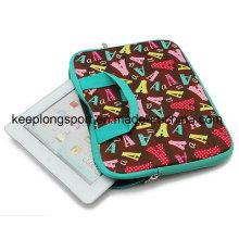 Sacoche pour ordinateur portable en néoprène avec poignée pleine couleur