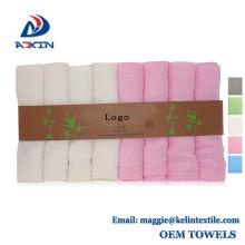 "Hot Sales 6-Pack 100% Organic Bamboo Baby, paños de lavado suave 10 ""x10"""