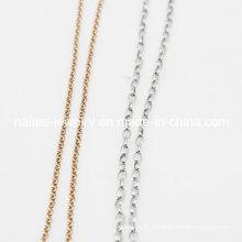 Женская цепь для ювелирных изделий из нержавеющей стали для ожерелья