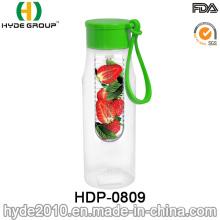 650ml Plastic BPA Free Tritan Fruit Infusion Water Bottle (HDP-0809)