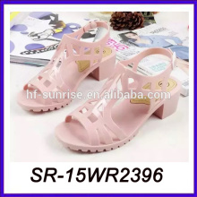 pink high heel pvc sandals wholesale jelly sandals plastic sandals wholesale