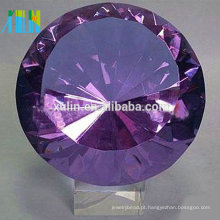 Papel de parede de diamante de cristal roxo de alta qualidade para lembranças de casamento