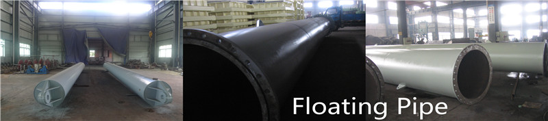 Steel floating dredge pipes