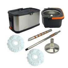 Joyclean Smart Mop Bucket, Hand Press Square Stainless Steel Bucket Mop