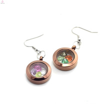 Special styles chocolate earrings jewelry, top design round charms earrings