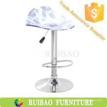 Acrylic Swivel Plate Parts Barstool Indoor Wooden Bar Furniture