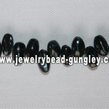 black rice shape freshwater shell beads