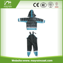 Raincoat Kid PU Rain Jacket Rain Calças OEM